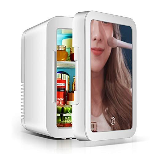 Belleza Frigorífico 5 Litros,con Espejo LED,para Maquillaje Y Cuidado La Piel,Casa Bar -Nevera Termoeléctrica para Bebidas