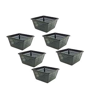Pisces Pond Square Planting Basket 23 x 23 x 13cm - 6 Pack