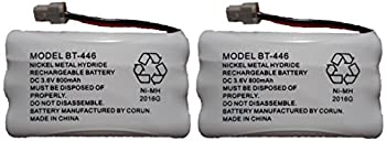 BT446 BT-446 BBTY0503001 BT-1004 BT-1005 GE-TL26402 BT-504 CPH-488B Rechargeable Cordless Telephone Battery DC 3.6V 800mAh Manufactured by Corun for Uniden