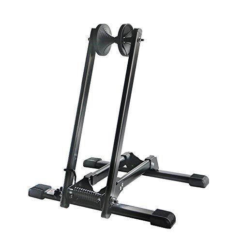 Qwed Soporte para Rueda Trasera de Bicicleta,Soporte Bicicletas Suelo,Almacenamiento de portabicicletas Plegable,Ligero/Conveniente/Estable,se...