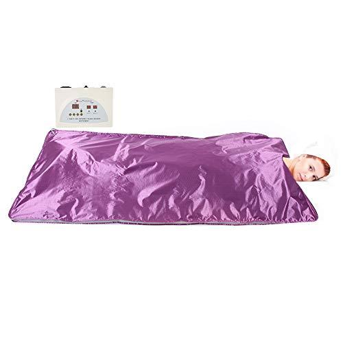 Sauna Heizdecke Heizdecke, Far Infrared Detox Sauna Körper Abnehmen Fitness Anti-Aging-Maschine Lila(EU)