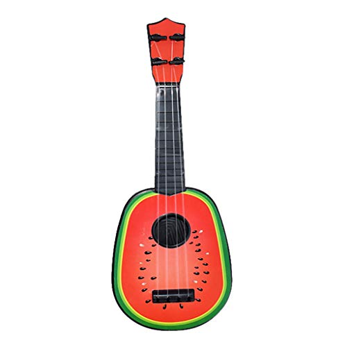 Yeefant Beginner Classical Ukulele Fruit Guitar Educational Musical Instrument Toy Children Kids Toy Guitar Cute Mini Fruit Guitar Musical Funny Puzzle Toy Best Gift Watermelon Educational Gift