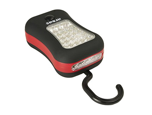 Arcas 30700019 Werkstattleuchte mit 24 LED und 4 Zusatz LED Lampen, Magnet auf Rückseite, ausklappbarer Haken