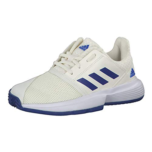 Adidas CourtJam xJ, Zapatos de Tenis, Off White/FTWR White/Team Royal Blue, 36 EU