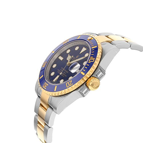Rolex New Submariner 116613 Yellow Steel Gold Ceramic Blue Box/Paper/WTY #RL80