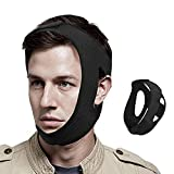 Chin Strap for CPAP Users, Anti Snore Chin Strap [2021 Newest], Chin Straps for Snoring, Adjustable Snoring Solution Stop Snoring Breathable Sleep Aid Snoring Head Belt for Men and Women, Black