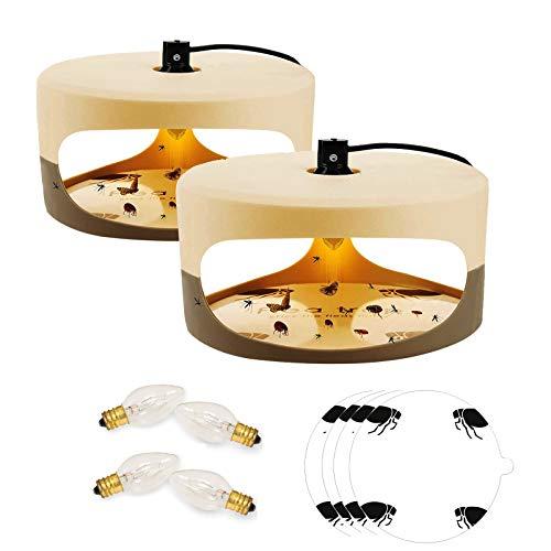 Qremove Flea Trap,Indoor Flea Trap Sticky Dome Bed Bug Trap with Glue...
