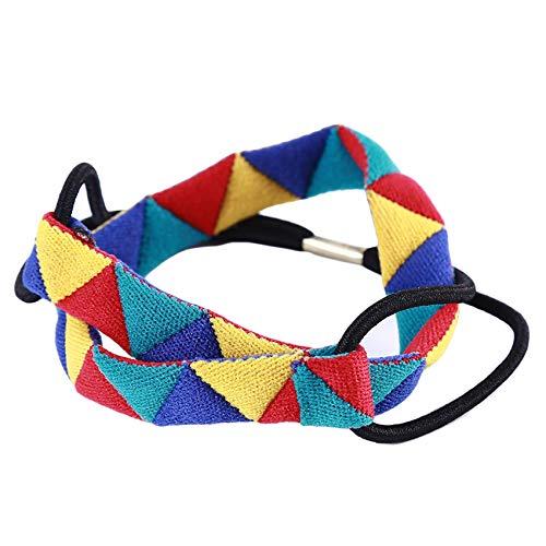 Husmniors - Diadema elástica para mujer, triángulo geométrico, triángulo, para el cabello, accesorio para el pelo