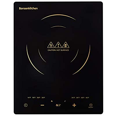 Portable Touch Induction Cooktop with LED Touch Screen, 1800W Countertop Burner, Induction Stove Cooker For Griddle, Pan, Tea Kettle, Outdoor, Indoor …