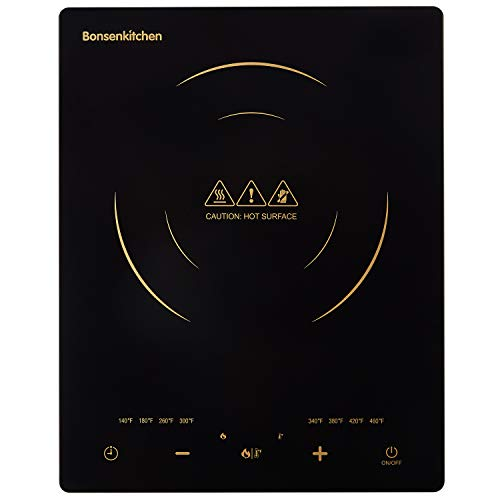 Portable Touch Induction Cooktop with LED Screen, 1800W Countertop Burner, Induction Stove Cooker For Griddle, Pan, Tea Kettle, Outdoor, Indoor.