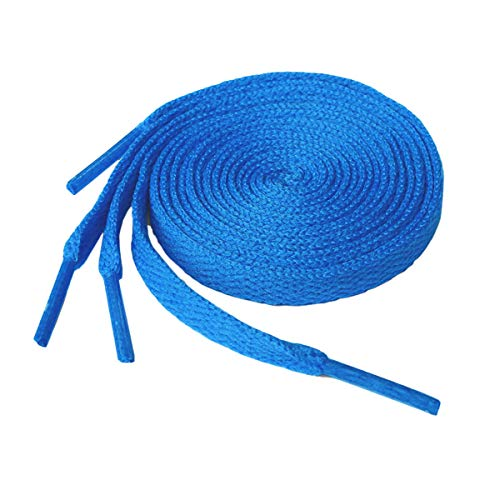 Flat Shoelaces Sneaker Shoe Lace (2 Pair) Flat Shoe String - For Canvas Sneaker Athletic Tennis Shoelace Replacements (27 inches (69 cm), Blue)