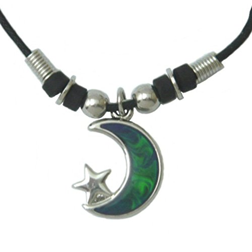 Tapp Collections Mood Pendant Necklace - Moon with Star