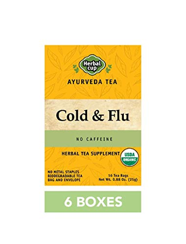 HERBAL CUP COLD & FLU TEA - 6 Pack, 96 Tea Bags Total ORGANIC