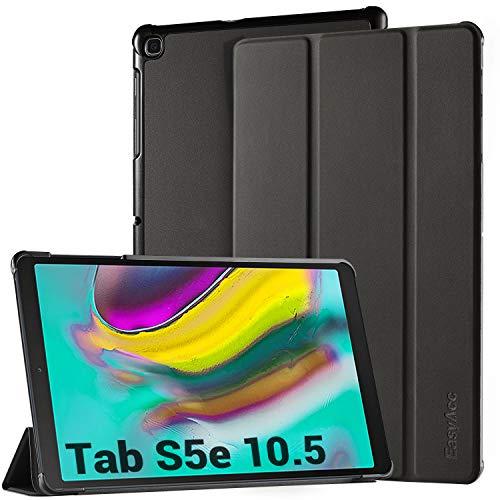 EasyAcc Hülle für Samsung Galaxy Tab S5e T720/ T725 10.5 - Ultra Dünn mit Standfunktion Auto Sleep/Wake Up Funktion Slim PU Leder Schutzhülle Passt für Samsung Galaxy Tab S5e 10.5 Zoll 2019, Schwarz