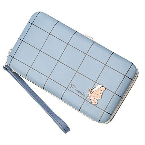 Portafoglio da donna multi-carta moda astuccio borse borsa denim blu