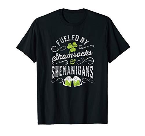 Fueled by Shamrocks & Shenanigans T-Shirt Irish Drinking Tee