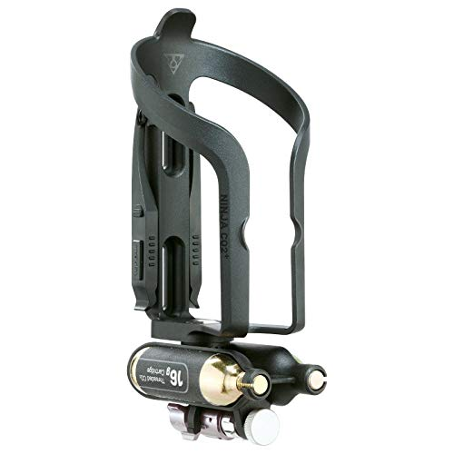 Topeak TNJ-CO2P Ninja CO2 Plus Fiets flessenhouder pomp Micro Air Booster cartridge bandenlichter noodgevallen