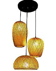 Rieten Rotan Hanglamp Bamboe Kroonluchter Handgemaakte Lampenkap Diy Slaapkamer Woonkamer Bar Cafe Restaurant Hanglamp Vintage Rustieke Bamboe lamp