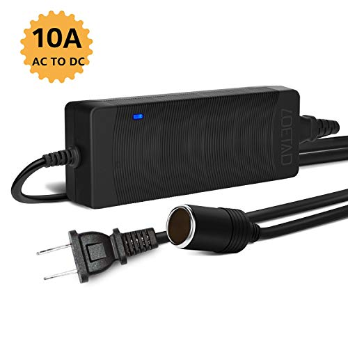 LOETAD AC to DC Converter 10A 120W 100-240V to 12V Car Cigarette Lighter Socket AC/DC Power Supply Charging Adapter