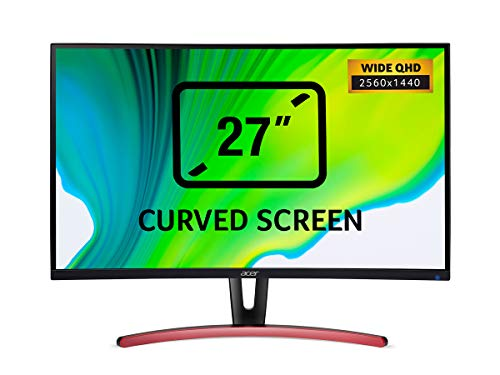 Acer ED273URPbidpx 27 inch WQHD Curved Monitor - (VA Panel, FreeSync, 144Hz, 4ms, ZeroFrame, DP, HDMI, DVI, Black)