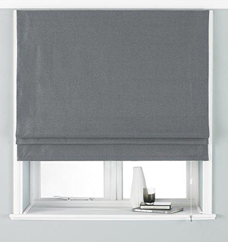 Paoletti Atlantic 91X137 Roman Blind Grey, Poliestere, 91x137cm