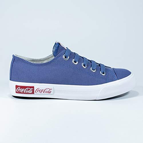 Tênis Blend Canvas, Coca-Cola, Adulto Unissex, Ocean, 34