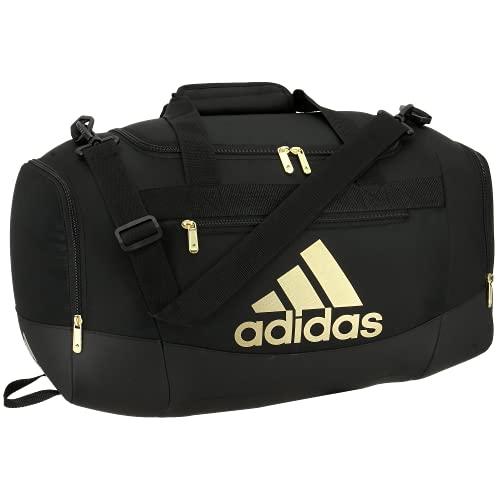 Adidas Defender 4 - Borsone piccolo, nero/oro metallizzato, taglia unica