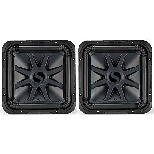 KICKER Solo L7S 1500W 12' 4 Ohm DVC Sealed or Ported Square Subwoofer (2...