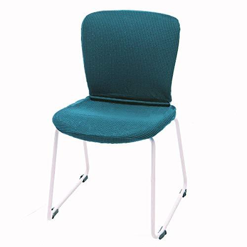 CAVEEN Stoelhoezen, overtrek voor bureaustoel, draaistoel, computerstoel, stoelbekleding, apart design met stoelbekleding, rugleuningbekleding, stoelbekleding, stretch voor kantoor en eetkamer groen