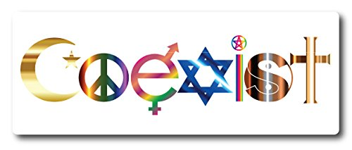 Magnet Me Up 'Coexist Car Magnet - 3x8 Heavy Duty Auto Truck Decal Magnet