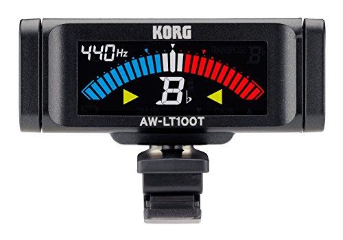 KORG Stimmgerät AWLT100-T Trompete, chromatisches Stimmgerät für Trompete und Posaune, Clip-Tuner mit einstellbarer Kammertonfrequenz, schwarz