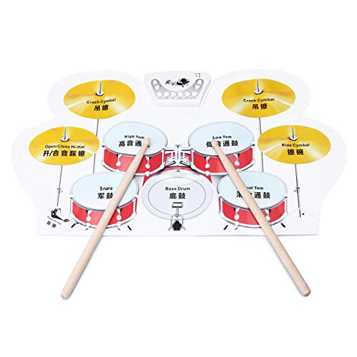 Conjunto de percusión Altavoces pedales Instrumentos Kits de batería electrónica conjunto acumulativo de Musical