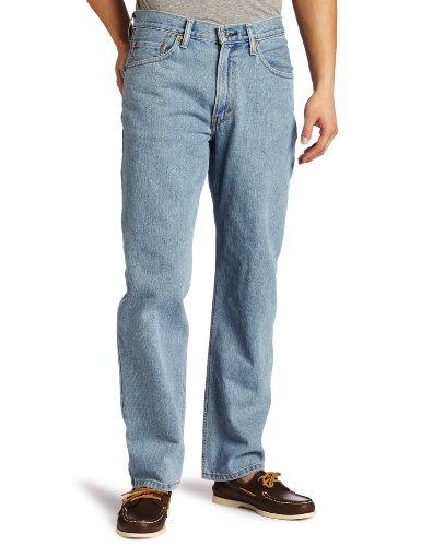 Levi's Men's 550 Relaxed Fit Jeans, Light Stonewash, 36W x 29L
