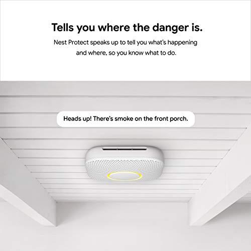 Google Nest Protect - Smoke Alarm - Smoke Detector and Carbon Monoxide...