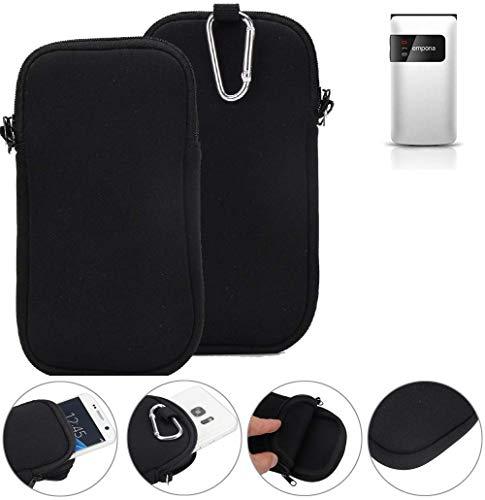 K-S-Trade Neopren Hülle für Emporia FLIP Basic Schutzhülle Neoprenhülle Sleeve Handyhülle Schutz Hülle Handy Gürtel Tasche Case Handytasche schwarz