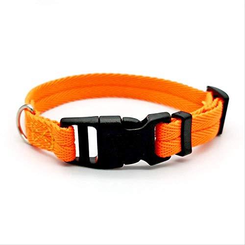 Collar para perro y gato, collar para perro, tamaño pequeño, grande, anillo para el cuello, anti-le M naranja