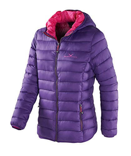 Black Crevice Damen Isolationsjacke in Daunenoptik, Violett (Purple), 44