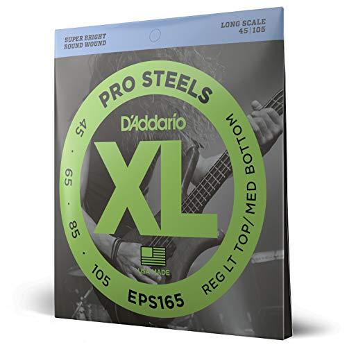 d'Addario EPS165 Juego de cuerdas para bajo eléctrico de acero, 045', 105',...
