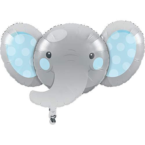 "Creative Converting Enchanting Elephants Boy Mylar Balloon, 1 ct, Multi-color, 35"" x 21"""