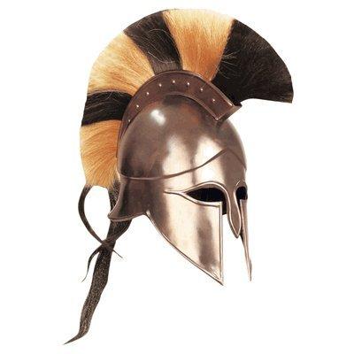PIRU Greek Corinthian Athenian Spartan Hoplite Helmet Multi Color Plume Crest SCA Black