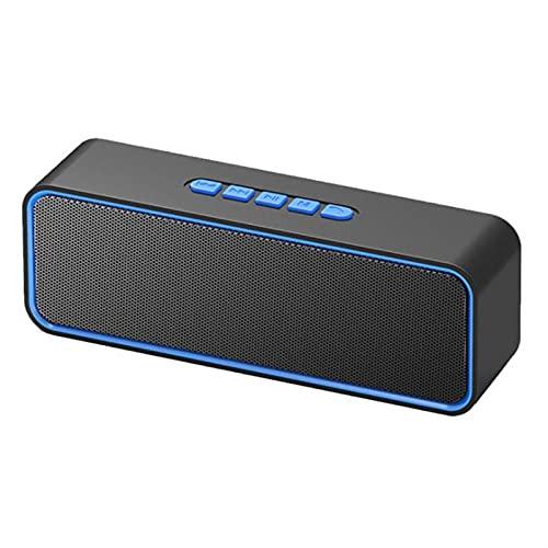 WGHH Altavoz Bluetooth, Altavoz portátil inalámbrico, Sonido estéreo Fuerte, bajo Rico, Tiempo de Juego de 8 Horas, Fiestas adecuadas, Gimnasio, al Aire Libre