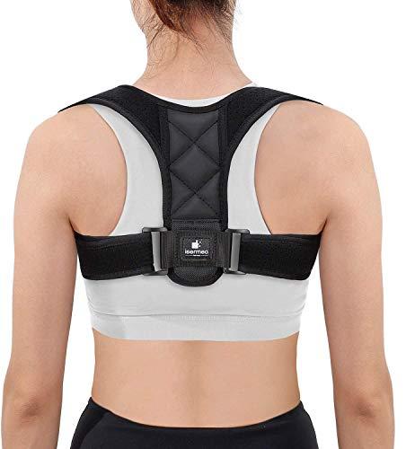 isermeo Haltungskorrektur für Schultern und Rücken [202020-Version] Gerader Rücken, verstellbare Haltung, korrekte Haltung, atmungsaktiv, orthopädische Rückenbandage für Damen und Herren