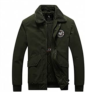 L'MONTE Imported American Style Collar Fur Cotton Jacket for Men