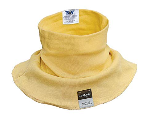 Cut/Scratch Resistant Kevlar Neck Protector - Black (Yellow XL)