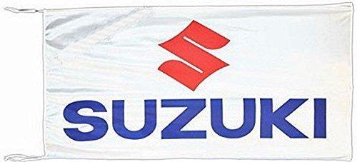 signs-unique Große Suzuki Flagge (weiß) 1500mm x 900mm (of)
