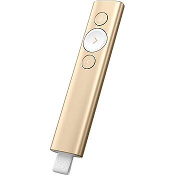 ロジクール ポインター R1000GD ゴールド プレゼンター プレゼン 充電式 ワイヤレス 無線 R1000 SPOTLIGHT 国内正規品 2年間無償保証