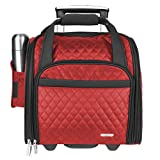 Travelon Wheeled Underseat Carry-On with Back-Up Bag, Red, One Size