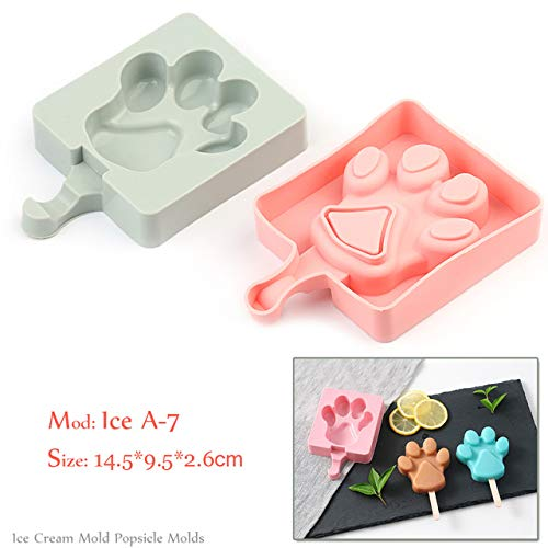 Coner Silicone Ice Cream Mold Popsicle Mallen Frozen Ice Mold met Popsicle Sticks Homemade Freezer Ice Lolly Mold, Ice A -7