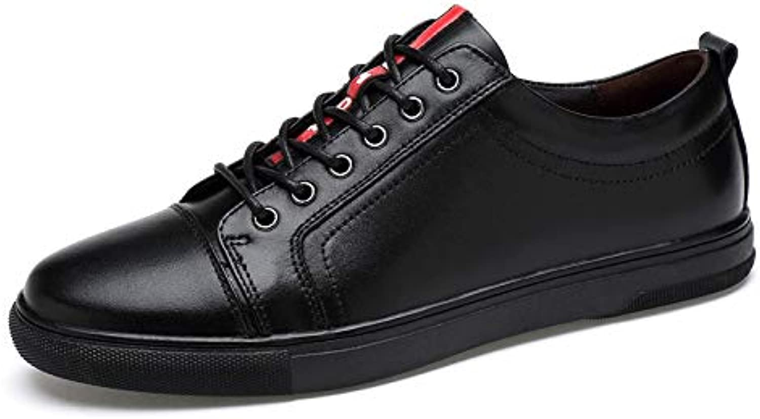 LOVDRAM Men'S shoes shoes Men'S First Layer Leather Small White Large Size 36-46 Yards