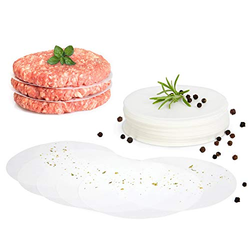GOURMEO® Burger Papier/Blatt Backpapier für Burgerpresse Ø 11 cm 500 STK. – Antihaft Backpapier/Trennpapier für perfekte Hamburger, Cheeseburger – zum Grillen